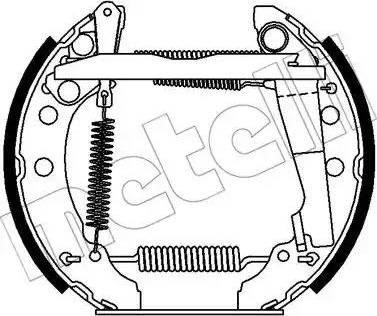 Metelli 51-0365 - Bremžu komplekts, trumuļa bremzes autodraugiem.lv