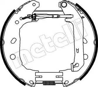 Metelli 51-0230 - Bremžu komplekts, trumuļa bremzes autodraugiem.lv