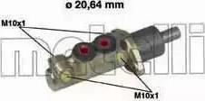 Metelli 05-0039 - Galvenais bremžu cilindrs autodraugiem.lv