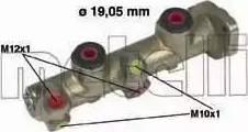 Metelli 05-0077 - Galvenais bremžu cilindrs autodraugiem.lv