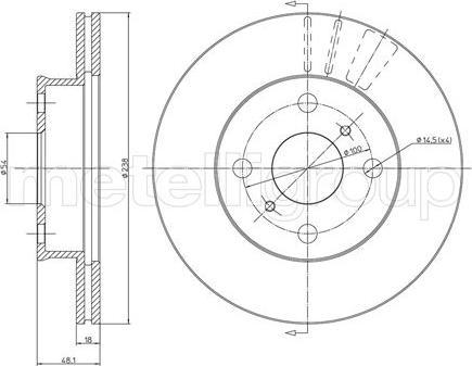 Metelli 23-0435 - Bremžu diski autodraugiem.lv