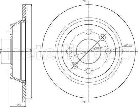 Metelli 23-0669 - Bremžu diski autodraugiem.lv
