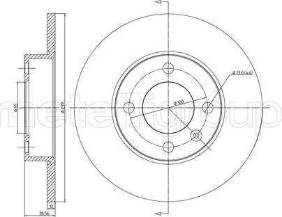 Metelli 23-0054 - Bremžu diski autodraugiem.lv