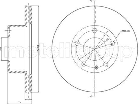 Metelli 23-0061 - Bremžu diski autodraugiem.lv
