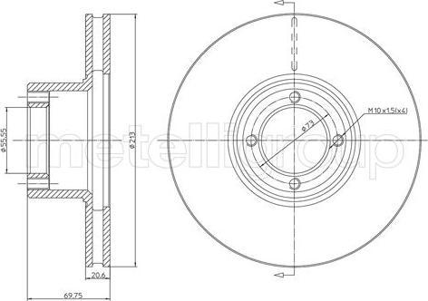 Metelli 23-0164 - Bremžu diski autodraugiem.lv