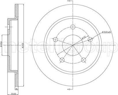 Metelli 23-0121 - Bremžu diski autodraugiem.lv