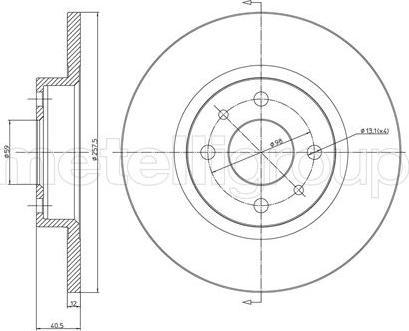 Metelli 23-0179 - Bremžu diski autodraugiem.lv