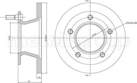 Metelli 23-0308 - Bremžu diski autodraugiem.lv