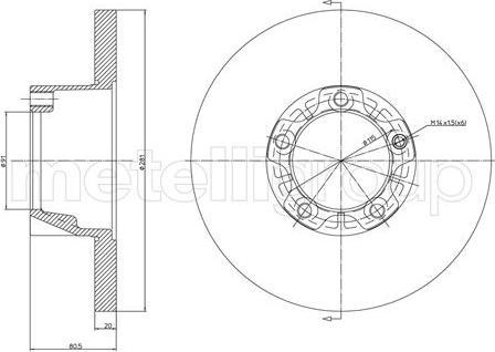 Metelli 23-0291 - Bremžu diski autodraugiem.lv