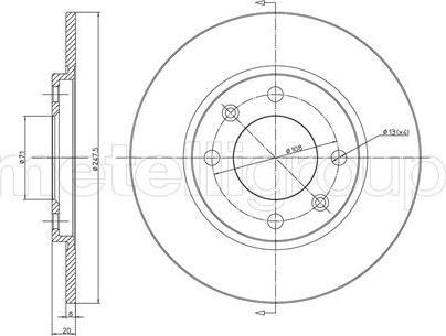 Metelli 23-0216 - Bremžu diski autodraugiem.lv