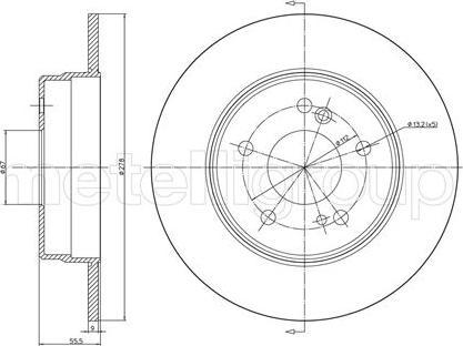 Metelli 23-0277C - Bremžu diski autodraugiem.lv