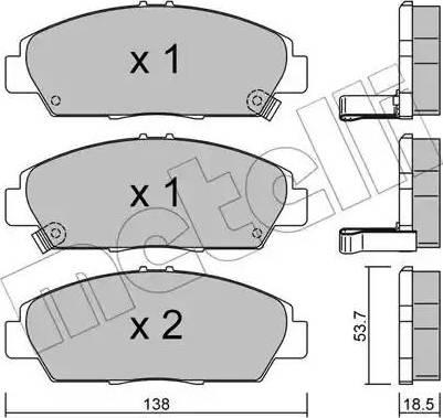 Metelli 22-0172-0 - Bremžu uzliku kompl., Disku bremzes autodraugiem.lv