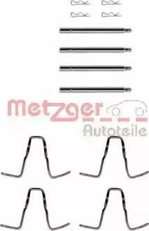 Metzger 109-1005 - Piederumu komplekts, Disku bremžu uzlikas autodraugiem.lv
