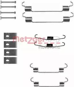 Metzger 105-0833 - Piederumu komplekts, Bremžu loki autodraugiem.lv
