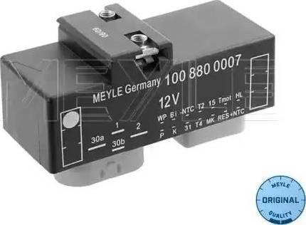 Meyle 100 880 0007 - Vadības bloks, Elektroventilators (Motora dzesēšana) autodraugiem.lv