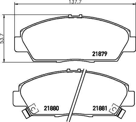 Mintex MDB1635 - Bremžu uzliku kompl., Disku bremzes autodraugiem.lv