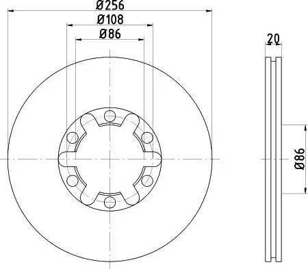 Mintex MDC972 - Bremžu diski autodraugiem.lv