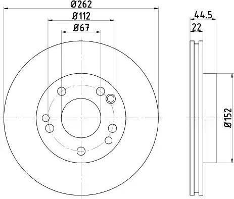Mintex MDC495 - Bremžu diski autodraugiem.lv