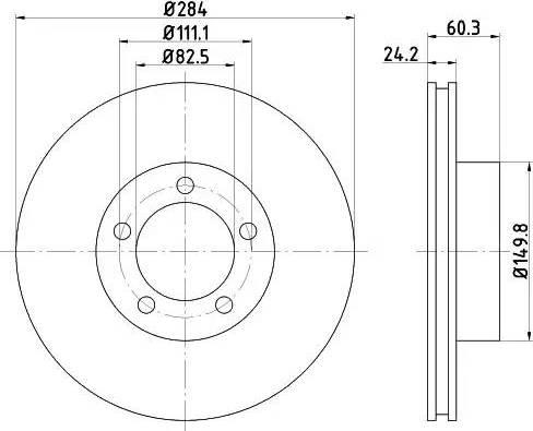 Mintex MDC449 - Bremžu diski autodraugiem.lv