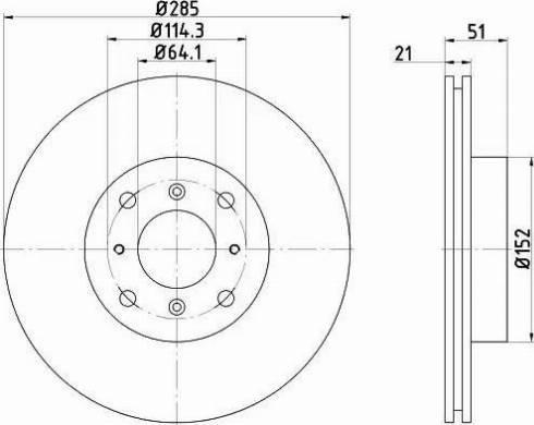 Mintex MDC440 - Bremžu diski autodraugiem.lv