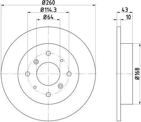 Mintex MDC441 - Bremžu diski autodraugiem.lv