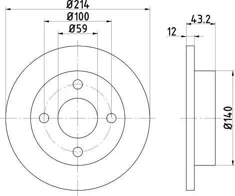Mintex MDC443 - Bremžu diski autodraugiem.lv