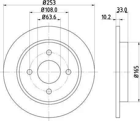 Mintex MDC442 - Bremžu diski autodraugiem.lv