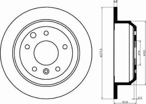 Mintex MDC447 - Bremžu diski autodraugiem.lv