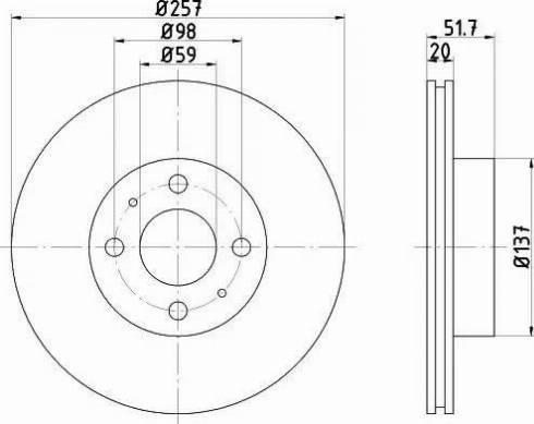 Mintex MDC406 - Bremžu diski autodraugiem.lv
