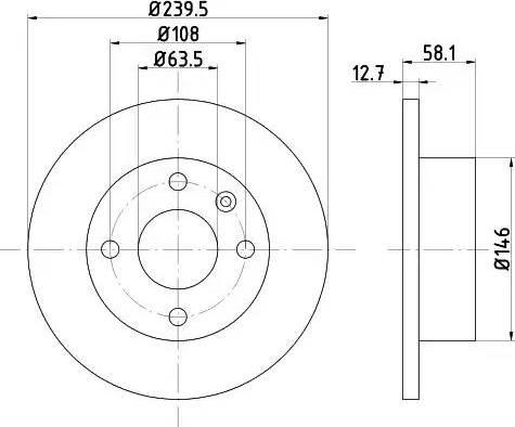 Mintex MDC407 - Bremžu diski autodraugiem.lv