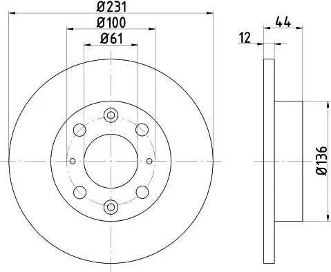Mintex MDC415 - Bremžu diski autodraugiem.lv
