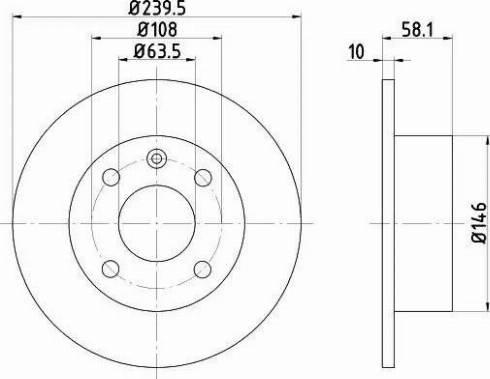 Mintex MDC411 - Bremžu diski autodraugiem.lv