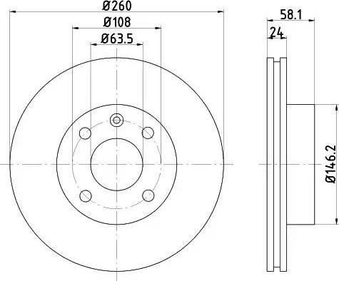 Mintex MDC438 - Bremžu diski autodraugiem.lv