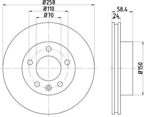 Mintex MDC424 - Bremžu diski autodraugiem.lv