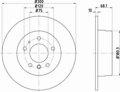 Mintex MDC475 - Bremžu diski autodraugiem.lv