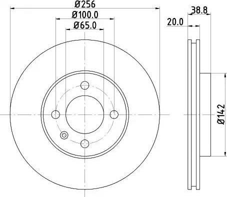 Mintex MDC504 - Bremžu diski autodraugiem.lv