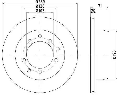 Mintex MDC1090 - Bremžu diski autodraugiem.lv