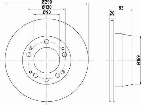 Mintex MDC1091 - Bremžu diski autodraugiem.lv