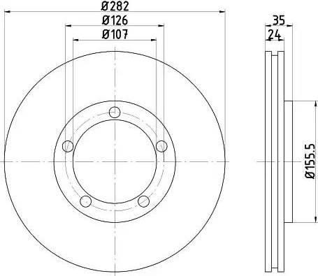 Mintex MDC1126 - Bremžu diski autodraugiem.lv