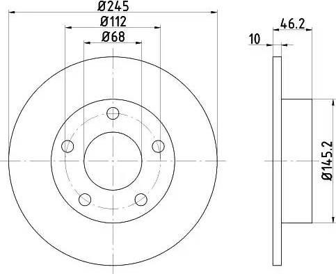 Mintex MDC1123 - Bremžu diski autodraugiem.lv