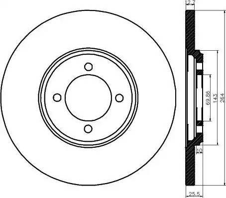 Mintex MDC130 - Bremžu diski autodraugiem.lv