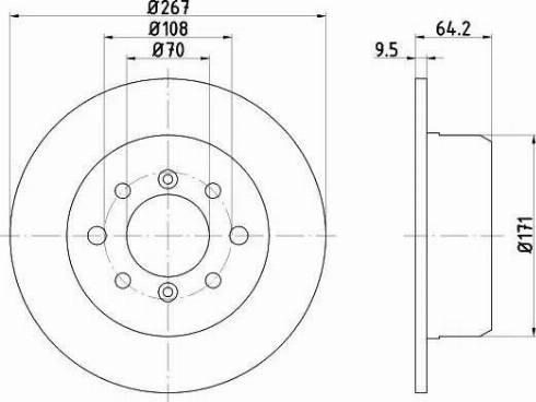 Mintex MDC1265 - Bremžu diski autodraugiem.lv