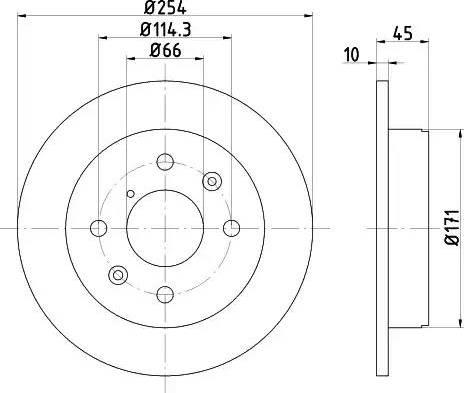 Mintex MDC1223 - Bremžu diski autodraugiem.lv