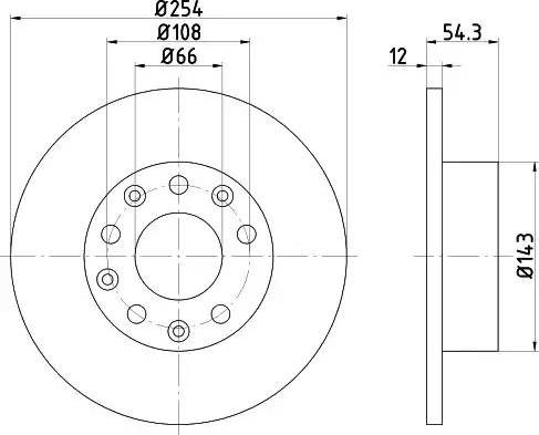 Mintex MDC871 - Bremžu diski autodraugiem.lv