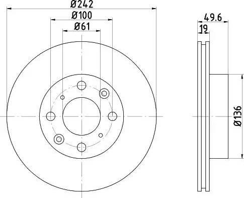 Mintex MDC344 - Bremžu diski autodraugiem.lv