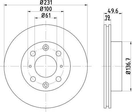 Mintex MDC345 - Bremžu diski autodraugiem.lv