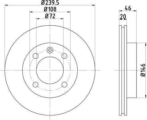 Mintex MDC347 - Bremžu diski autodraugiem.lv