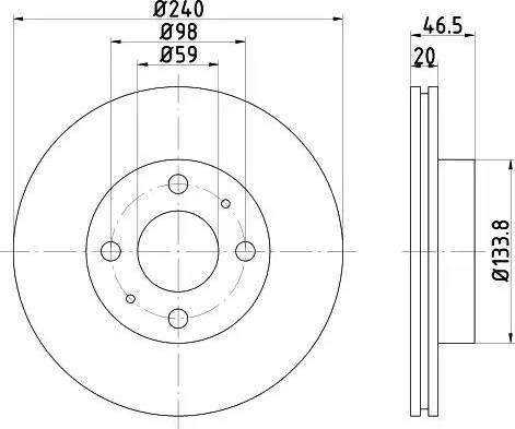 Mintex MDC358 - Bremžu diski autodraugiem.lv