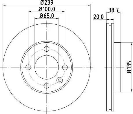 Mintex MDC365 - Bremžu diski autodraugiem.lv