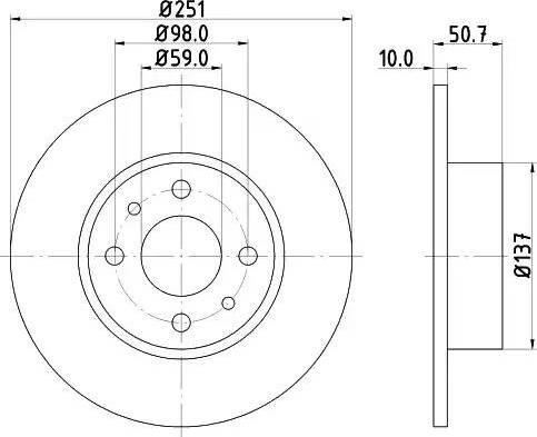 Mintex MDC389 - Bremžu diski autodraugiem.lv